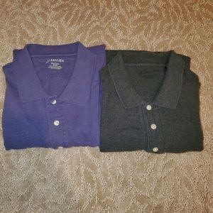 EUC Men's 3-button short-sleeved polos (2X)